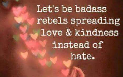 Let's be badass rebels..