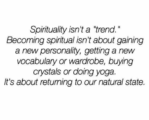 Spirituality is Not a Trend
